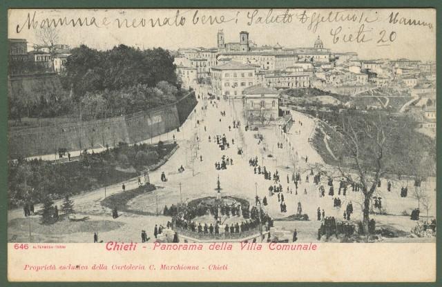 CHIETI. Panorama della Villa Comunale