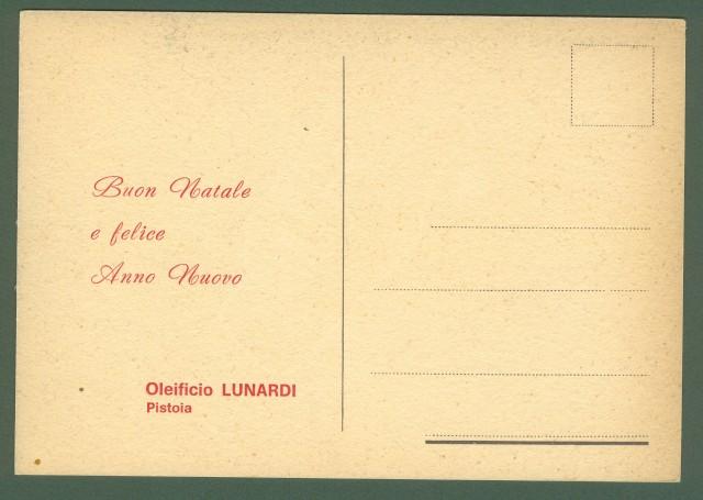 FUTURISMO. OLIO D'OLIVA LUNARDI di Pistoia. Bella cartolina a colori disegnata da Adriani