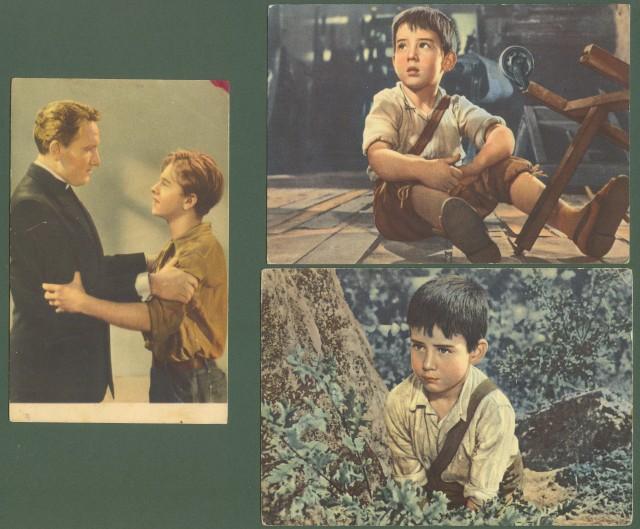 CINEMA. Tre cartoline anni '50, non viaggiate