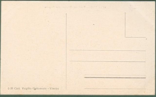 VITERBO. Fontana Grande dei Sepale. Cartolina d'epoca non viaggiata, circa 1910