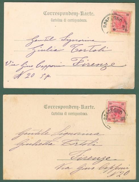 RONCEGNO, Trentino. Due cartoline d'epoca