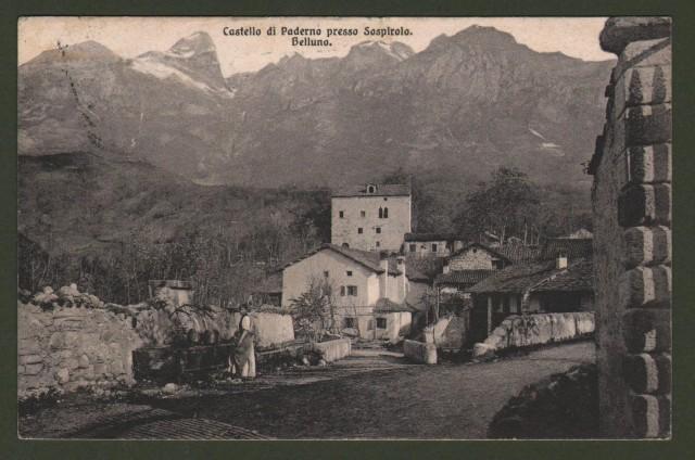 PADERNO, Belluno. Castello di Paderno presso Sospirolo.