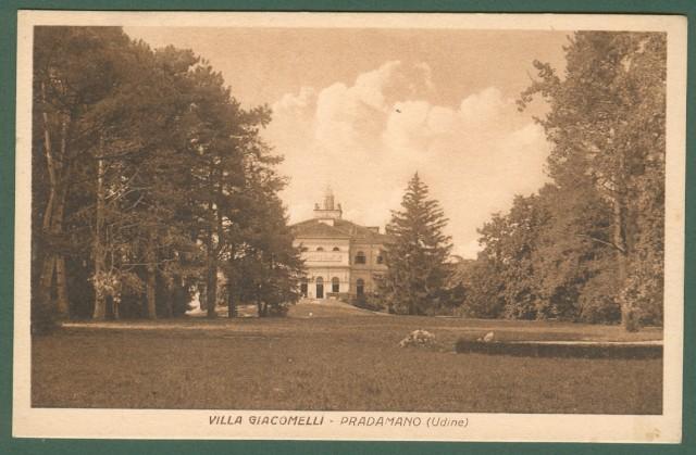 PRADAMANO. Udine. Friuli-Venezia Giulia. Villa Giacomelli. Cartolina d'epoca non viaggiata, circa 1920