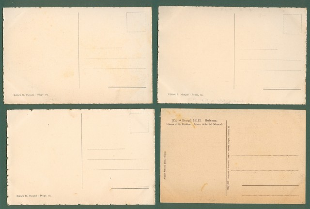 BOLSENA (Viterbo). Quattro cartoline d'epoca circa 1930.