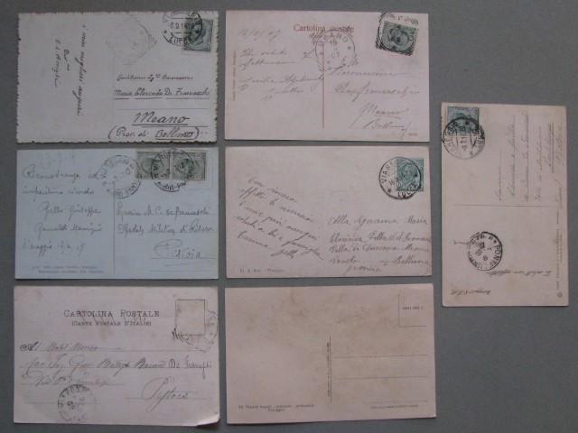 VIAREGGIO (Lucca). Sette cartoline d'epoca di cui 6 viaggiate 1905 - 1914.