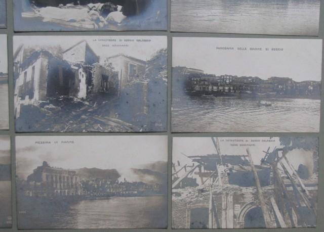 TERREMOTO. Messina e Reggo. 10 cartoline d'epoca (non viaggiate), edizione Scarpettini.