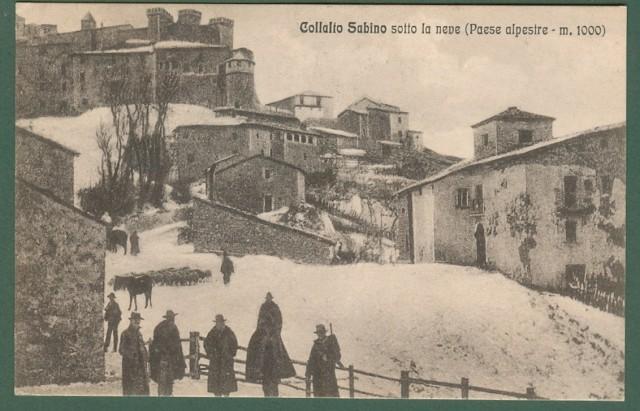 Lazio. COLLALTO SABINO, Rieti. Veduta. Cartolina d'epoca viaggiata nel 1930