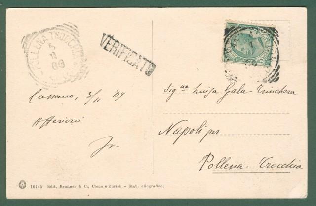 CACCIA ALLA VOLPE. Cartolina d'epoca viaggiata nel 1909