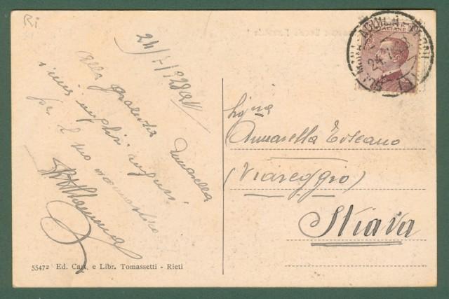 Lazio. CITTADUCALE, Rieti. Caserma Scuola Forestale. Cartolina d'epoca viaggiata nel 1928