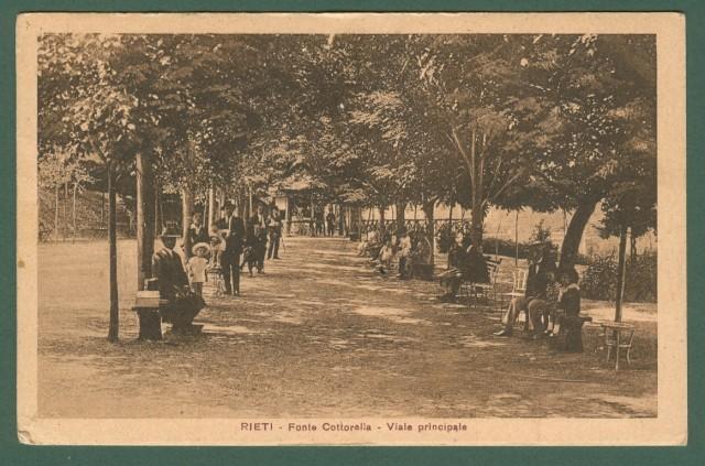 Lazio. RIETI. Fonte Cottorella, viale principale. Cartolina d'epoca viaggiata nel 1927