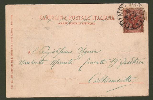 SAVONA. Via Genova. Cartolina d'epoca viaggiata nel 1901.