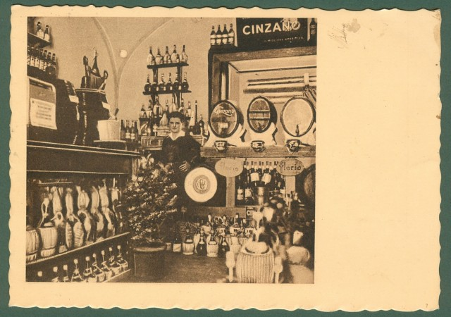 CAMPANIA. PONTECAGNANO, (Salerno). Pizzeria di Pontecagnano. Cartolina d'epoca viaggiata nel 1938