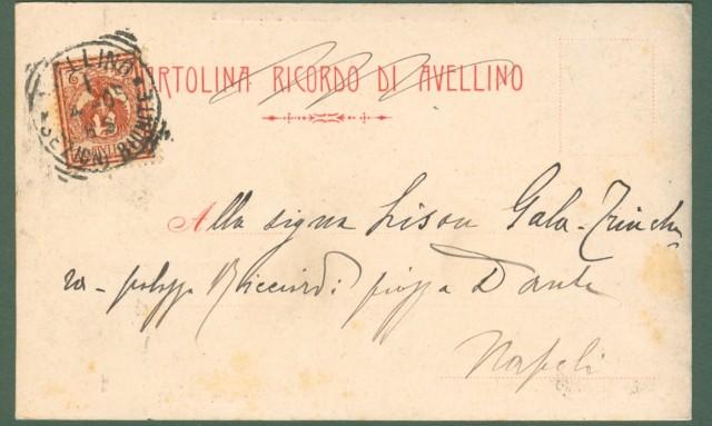CAMPANIA. AVELLINO. Corso V.Emanuele, cartolina d'epoca viaggiata nel 1905