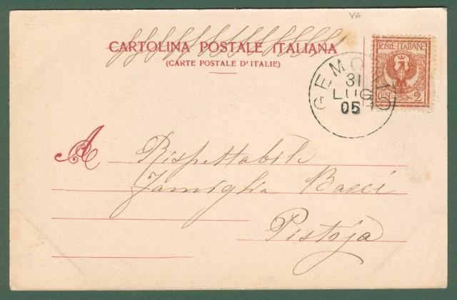Lombardia. GEMONIO, Varese. Cartolina d'epoca viaggiata nel 1905