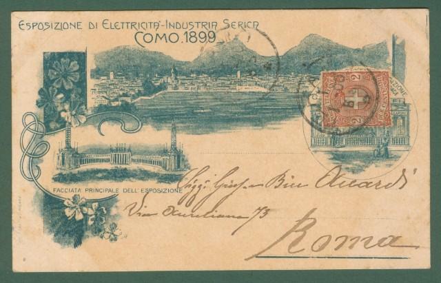 Lombardia. COMO. Esposizione di Elettricità - Industria Serica 1899.