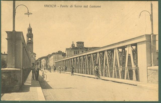 FAENZA (Ravenna). Ponte di ferro sul Lamone.