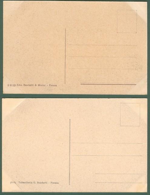 FAENZA, Ravenna. Due cartoline d'epoca non viaggiate, circa 1930.