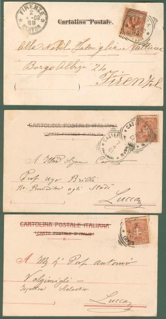 FAENZA (Ravenna). Tre cartoline viaggiate tra il 1901 e il 1902.