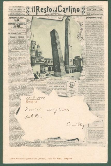 IL RESTO DEL CARLINO. Cartolina d'epoca pubblicitaria del quotidiano.