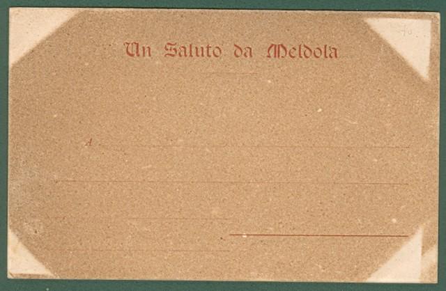 MELDOLA, Forlì. Stazione del Tramways e Castello Caterina Sforza. Cartolina d'epoca non viaggiata, primissimi '900.