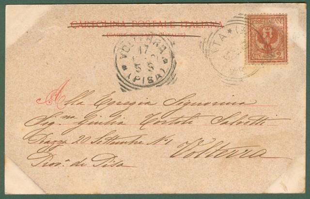 GALEATA, Forlì. Via Indipendenza. Cartolina d'epoca viaggiata nel 1901.