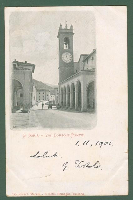 S. SOFIA, Forlì. Via Corso e Ponte.