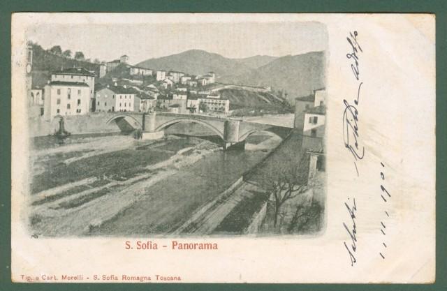 S. SOFIA, Forlì. Panorama. Cartolina viaggiata nel 1901.