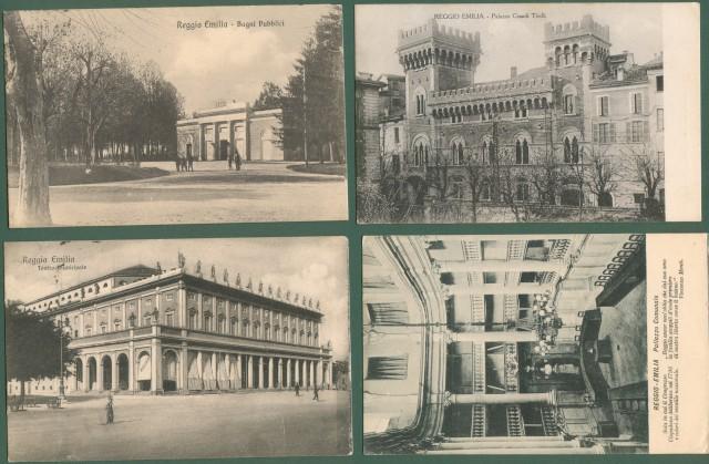 REGGIO EMILIA. 4 cartoline viaggiate tra il 1915 e il 1918.