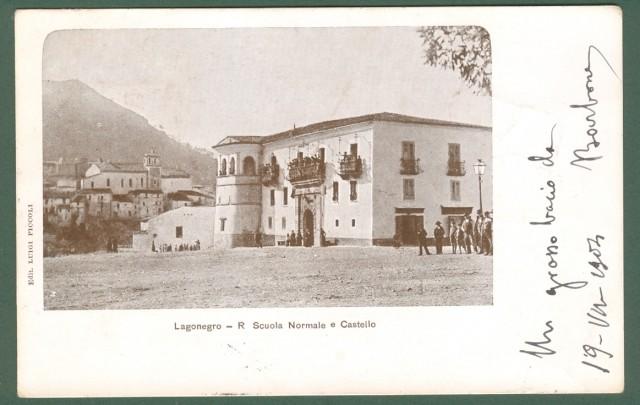 LAGONEGRO (Potenza). R. Scuola Normale e Castello.