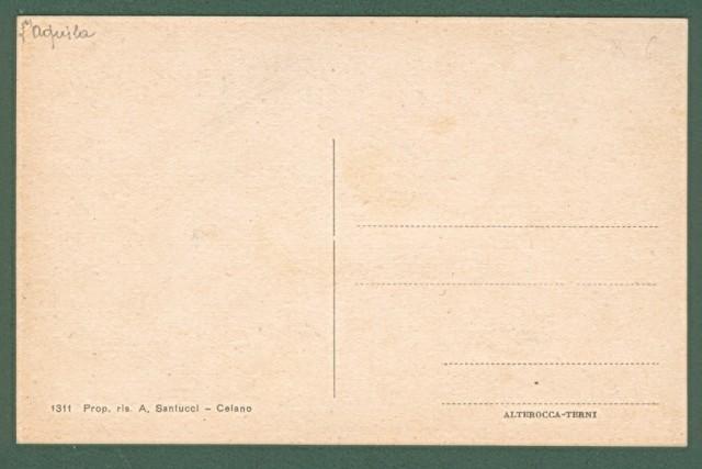 CELANO (Aquila). Cartolina d'epoca non viaggiata, circa 1940.