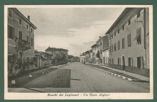 RONCHI DEI LEGIONARI (Gorizia). Via Dante Alighieri.