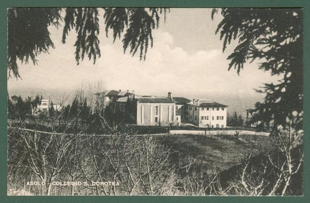 Veneto. ASOLO, Vicenza. Collegio S. Dorotea. Cartolina d'epoca non viaggiata, circa 1930.