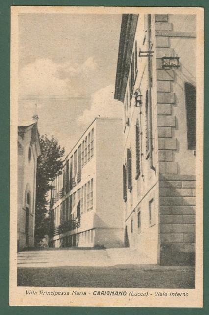 Toscana. CARIGNANO, Lucca. Villa Principessa Maria. Cartolina d'epoca non viaggiata, circa 1930.