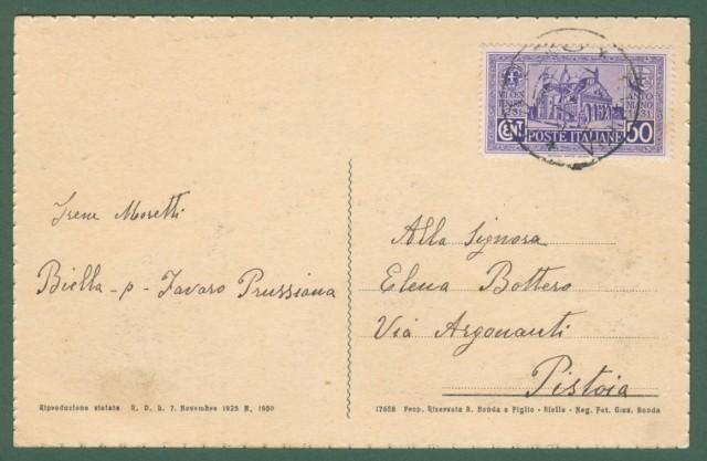 Piemonte. FAVARO, Biella. Cartolina d'epoca viaggiata nel 1931.