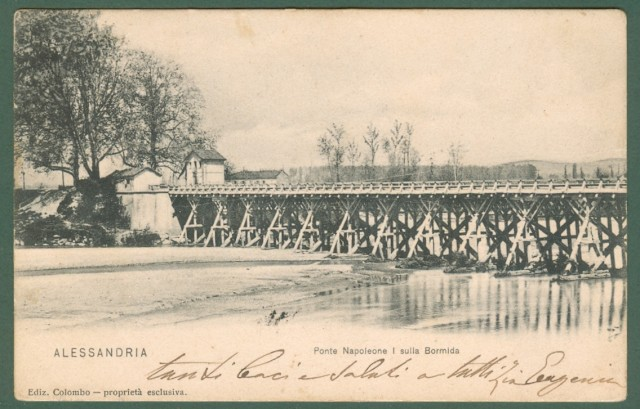 Piemonte. ALESSANDRIA. Ponte Napoleone I sulla Bormida.