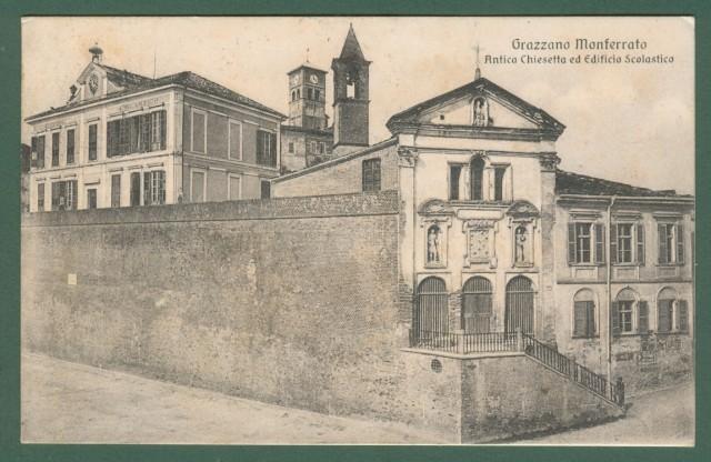 Piemonte. GRAZZANO MONFERRATO, Alessandria. Edificio scolastico.