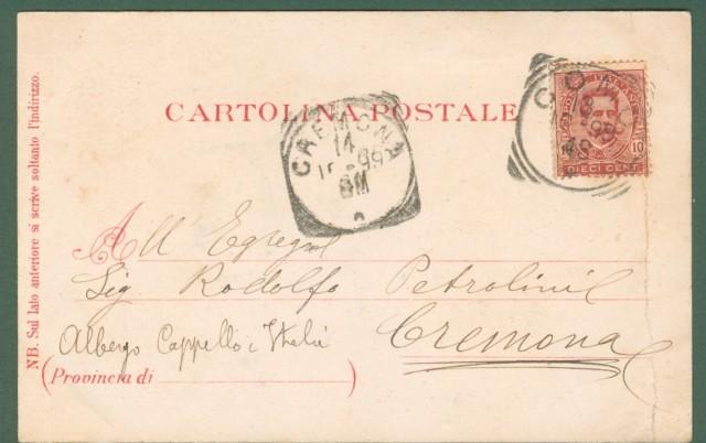 Lombardia. BRUNATE, Como. Souvenir de Brunate. Cartolina d'epoca viaggiata nel 1899