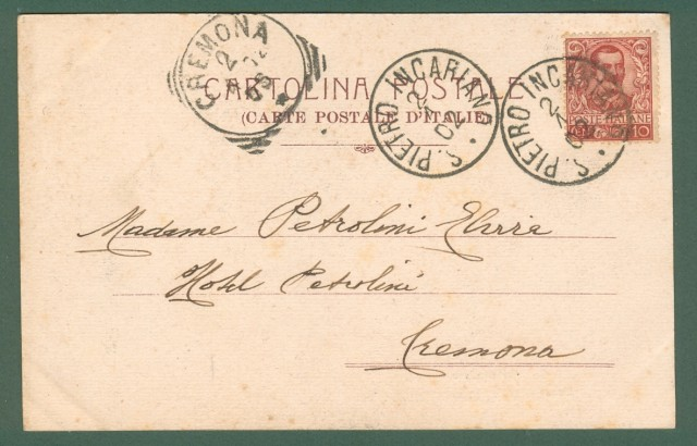 Veneto. S. PIETRO INCARIANO, Verona. Cartolina d'epoca viaggiata nel 1902