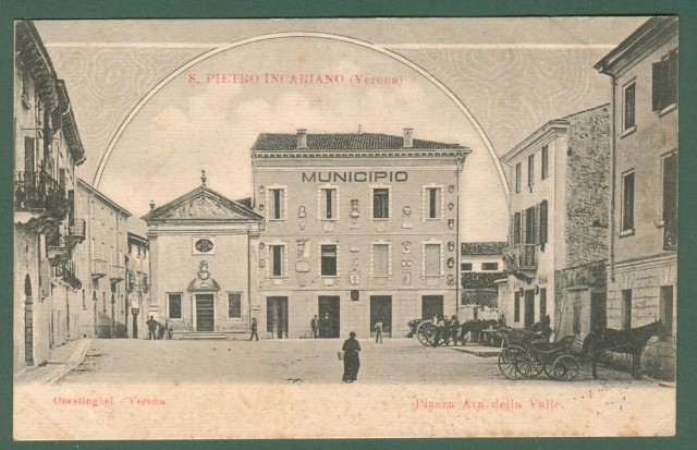 Veneto. S. INCARIANO, Verona. Piazza Ara della Valle.