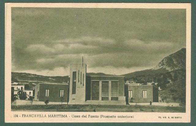 Calabria. FRANCAVILLA MARITTIMA, Cosenza. Casa del Fascio.