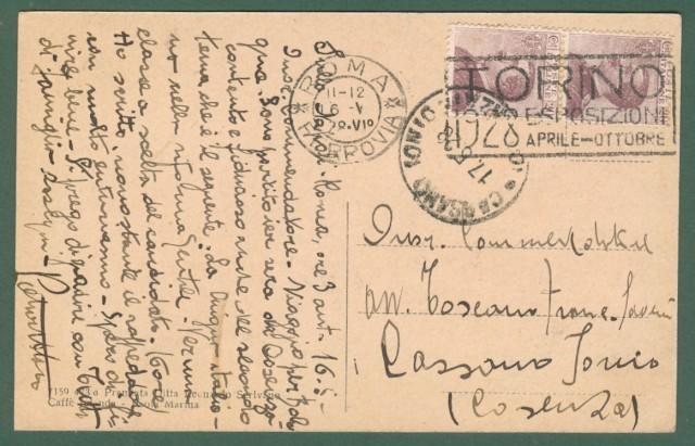 Calabria. PAOLA, Cosenza. Panorama. Cartolina d'epoca viaggiata nel 1928