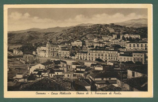 Calabria. COSENZA. Corso Plebiscito. Cartolina d'epoca viaggiata nel 1938