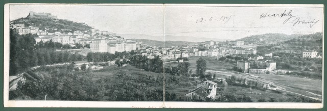 Calabria. COSENZA. Panorama. Cartolina d'epoca viaggiata nel 1905.