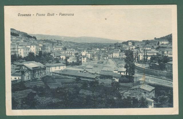 Calabria. COSENZA. Panorama. Cartolina d'epoca viaggiata nel 1927.