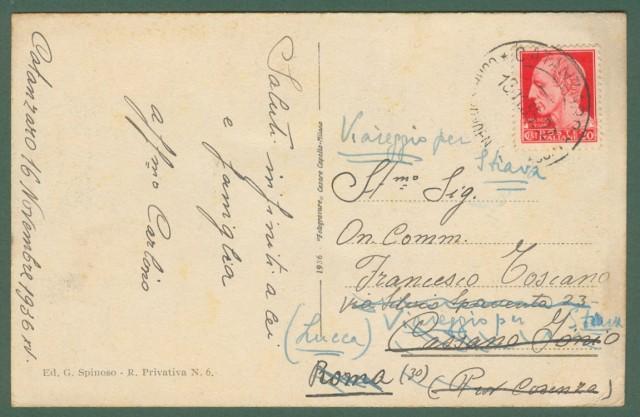 Calabria. CATANZARO. Corso Vittoria Emanuele. Cartolina d'epoca viaggiata nel 1935