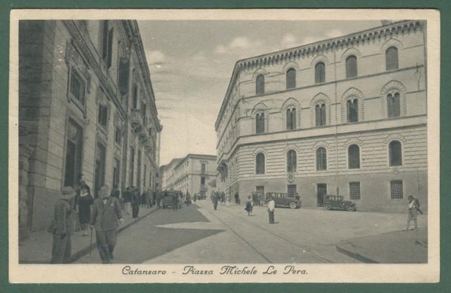 Calabria. CATANZARO. Piazza Michele Le Pera. Cartolina d'epoca viaggiata nel 1936.