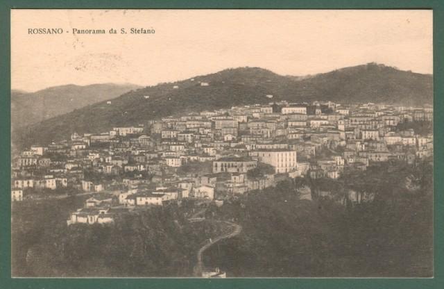 Calabria. ROSSANO, Cosenza. Panorama da S. Stefano. Cartolina d'epoca viaggiata nel 1933