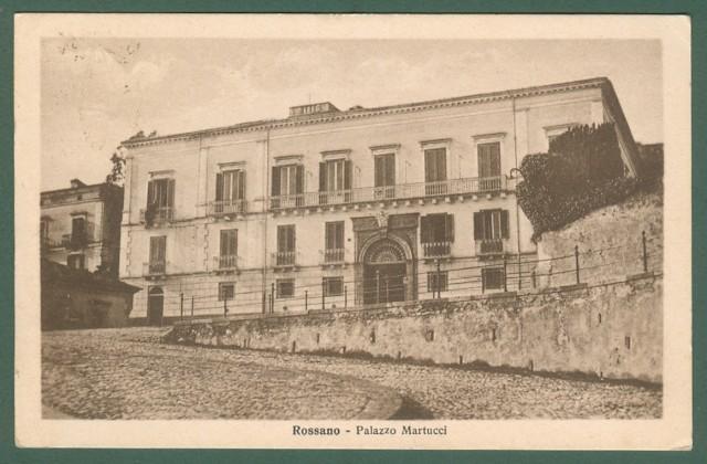 Calabria. ROSSANO, Cosenza. palazzo Martucci. Cartolina d'epoca viaggiata nel 1930