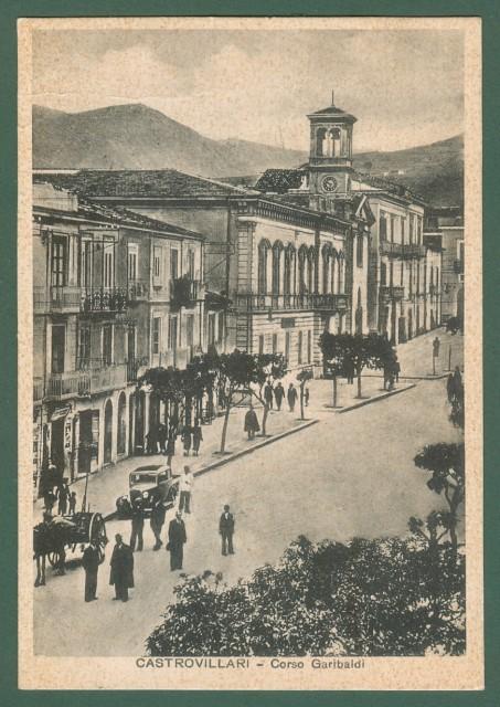 Calabria. CASTROVILLARI, Cosenza. Corso Garibaldi. cartolina d'epoca viaggiata nel 1937