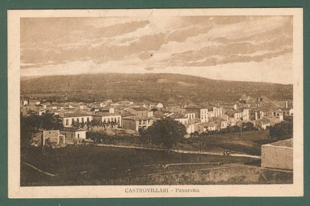 Calabria. CASTROVILLARI., Cosenza. Panorama. Cartolina d'epoca viaggiata nel 1929